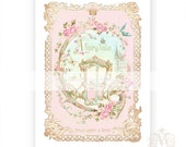 Once upon a time, print, nursery decor, fairy tale carriage, kids print, pink, gold, princess, baby girl, girls room, home decor