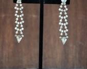 Silver & Rhinestone Wedding Cocktail Earrings