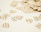Bibliophile Heart Confetti - Book Heart Paper Die Cuts