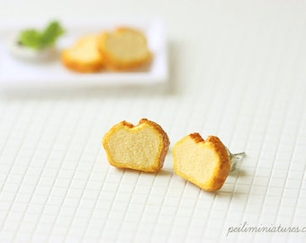 Pound Cake Earrings - Cake Jewelry