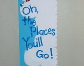 Custom Handpainted Canvas Growth Chart- Your Design Choice- Made to Order - myartsybaby