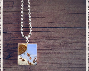 Scrabble Game Tile Jewelry - Carnival Ride - Scrabble Pendant Charm - Customize - Choose Your Style