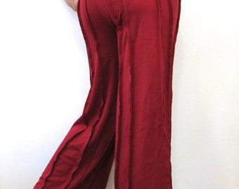 Wide Leg Dance Pants in Red