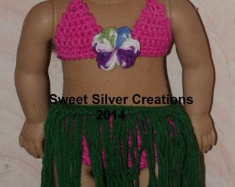 18 inch American Girl Crochet Pattern - Hawaiian