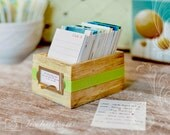 Perpetual Calendar Daily Journal with Rustic Wood Box - Earth Day Eco-Friendly Gift - 2015 Calendar CUSTOM