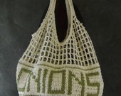 Crochet Onion Keeper, Produce Storage Bag, Kitchen Accessory, Large Crochet Bag, 100 % Cotton,Grocery Bag,Home & Living,Kitchen Decor,