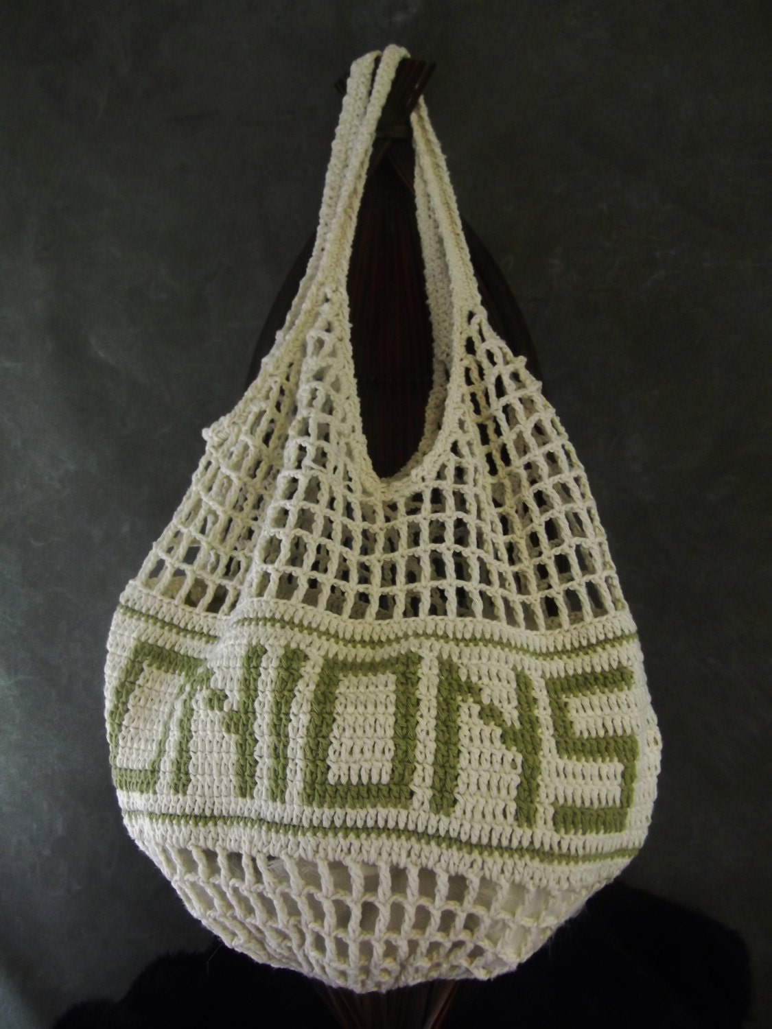 Crochet Vegetable Bag Pattern : Crochet Onion Keeper Produce Storage Bag Kitchen Accessory