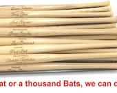 Mini Baseball Bat, Ring Bearer Gift, Groomsman Gift, Best Man Gift, Engraved Bat