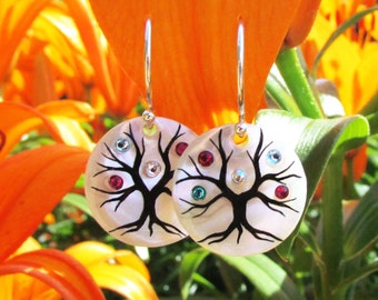 Family Tree Earrings 5 stone maximum for each