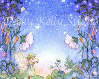 Dream a Little Dream, fairy with a dew drop and Ladybug