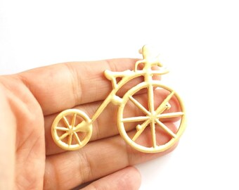 1pc Gold plated old fashion bicycle pendant- 68x50mm (012-006GP)