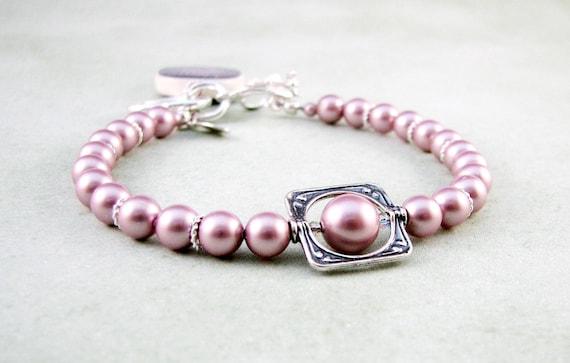 Custom Swarovski Pearl Photo Charm Bracelet - P3B7