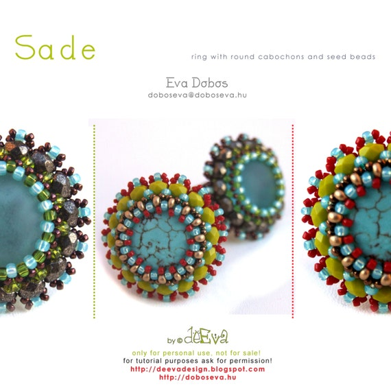 bead pattern - GY109 - Sade - ring - PDF instruction for personal use only