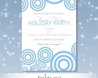 "Holiday Circles Modern Party Invitation - ""Pops"""