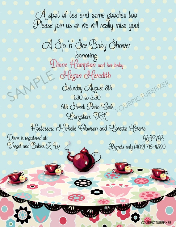 Baby Shower Invitations - Sip and See