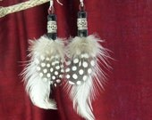 Polka Dot Feather Dangles...