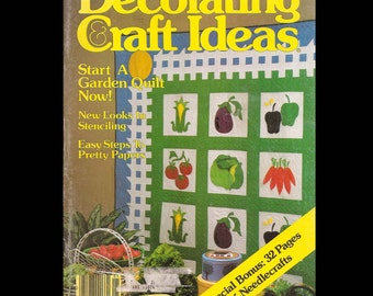 Decorating and Craft Ideas - Vintage Craft Magazine c. Jan/Feb 1983