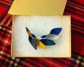 Petal Collection-  Multi Leather Petal Necklace