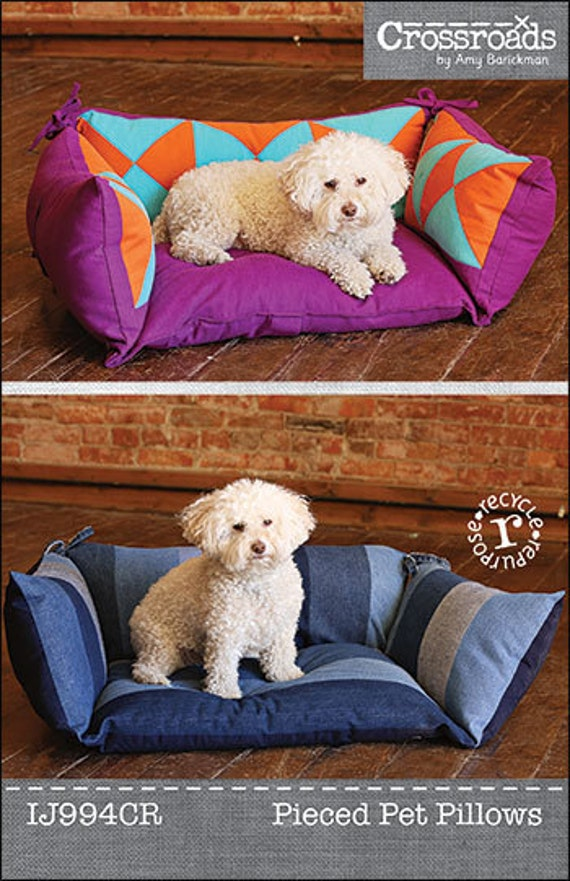 Pieced Pet Pillow Pdf Sewing Epattern Dog Or Cat Bed Created