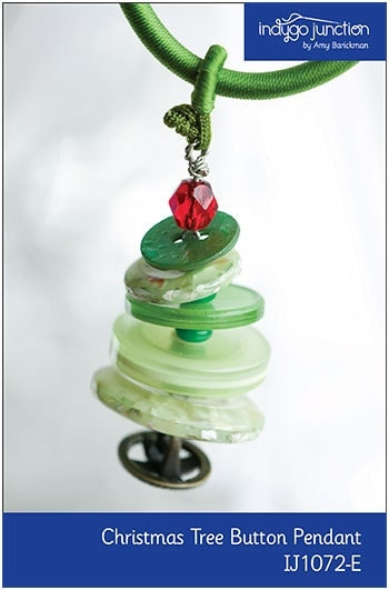 Button Christmas Tree Ornament Instructions : Christmas tree button necklace ornament epattern