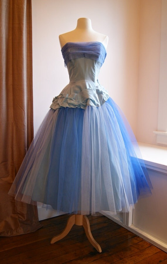 RESERVED//STEPHANIE//50s Prom Dress Vintage 1950s Prom Dress