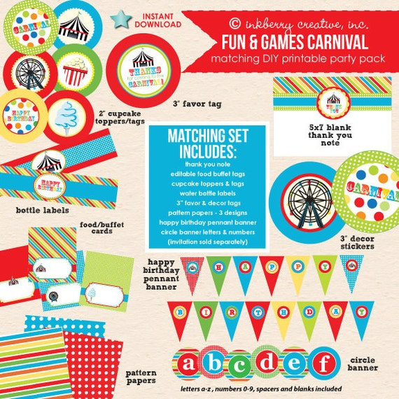 Kids Carnival Birthday (Primary Colors