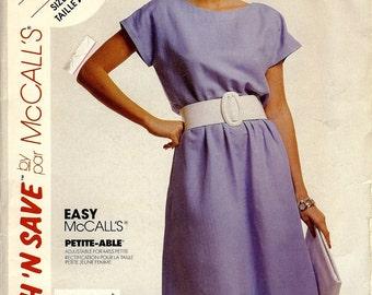 Vintage UNCUT McCall's Easy Stitch 'n Save Pattern 4213 Misses Dress & Belt 8-12