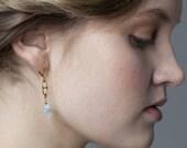 La Mer Earrings - Rose Quartz and Aquamarine