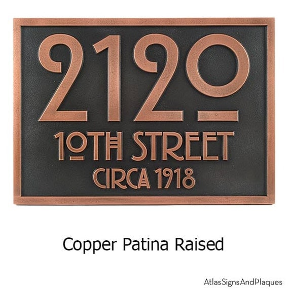 The Stickley Address Plaque Home Numbers By