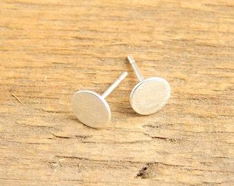Small silver stud earrings. 6 mm sterling silver post earrings.