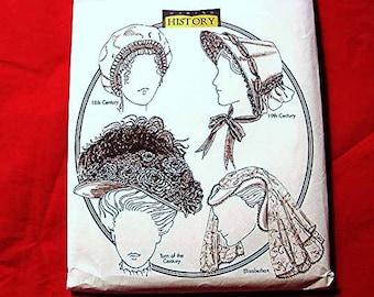Womens Hat Pattern for sewing Historical Hats and Bonnet Millinery Elizabethan Hat,  Regency Hat, Civil War Hat, Victorian Hat Style UNCUT