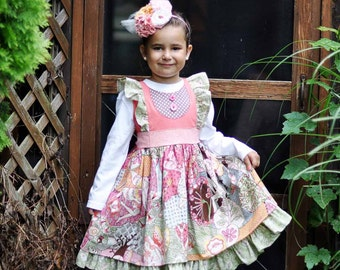 Girls Outfit - Girls Ruffle Pants - Little Girl Dress - Toddler Dresses - Thanksgiving Outfit - Birthday Outfit - Photo Prop - 2T to 8 yrs