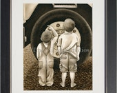 Big Wheel- an archival watercolor print by Tracy Lizotte