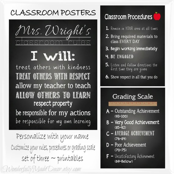 Rules Procedures: Items Similar To Classroom Posters