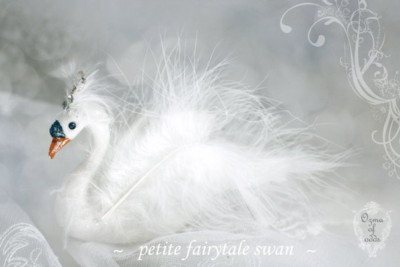 an enchanting fairytale swan