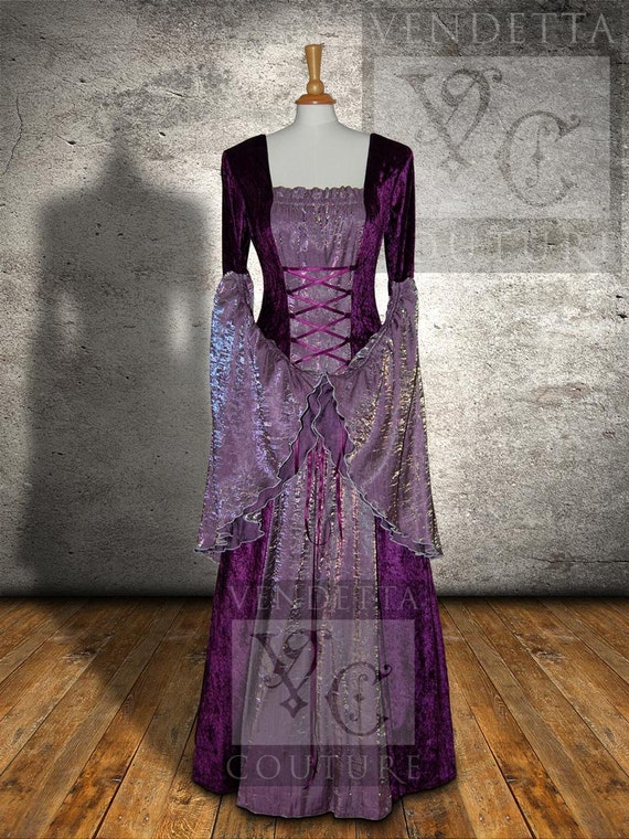 sale medieval dress celtic wedding gown pagan handfasting