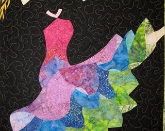 Dancing Girl Wall Hanging Art Quilt