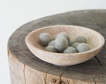 Felt Ball - Felt Bead - Felt Wool Ball 1 inch Bulk - Grey Felt Ball, White, Green, Brown, Pink Felt Ball 2cm - 10