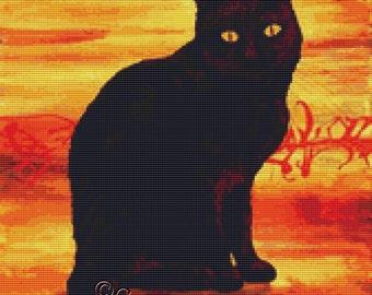 Cat Cross Stitch Kits By Robert Bretz - Superstition - Cat Needle Craft Kit