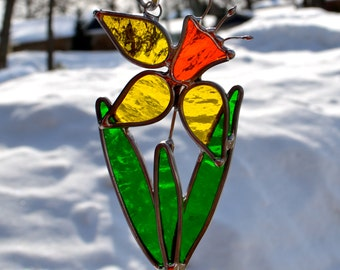 Little Daffodil Stained Glass Suncatcher