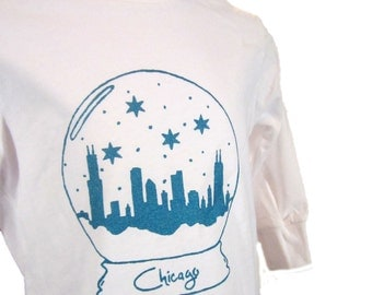 SALE Chicago Snow Globe Toddler Long Sleeve Tee- Pick Your Size
