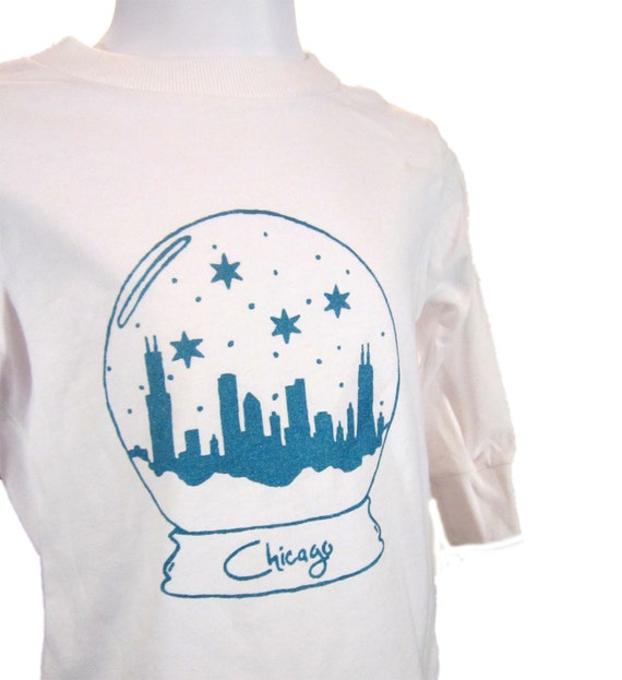 Chicago Snow Globe Toddler Long Sleeve Tee- Pick Your Size