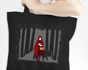 Red Riding Tote - Eco-Friendly Recycled Cotton Canvas