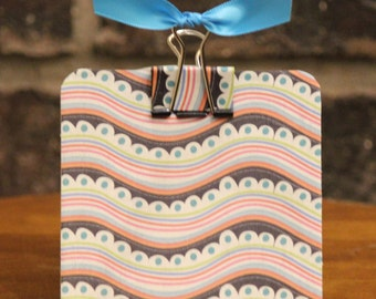 Post It Note Holder- Groovy Waves