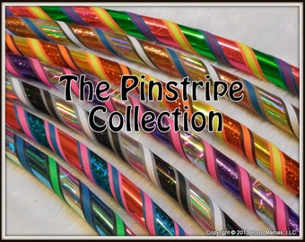 The PINSTRIPE COLLECTION - Custom Couture Travel Hula Hoop - ANY Colors & Size.