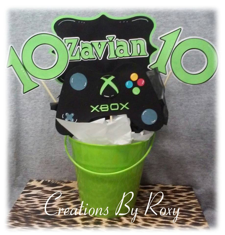 Xbox party centerpiece by creationsbyroxy on etsy for Decoration xbox one