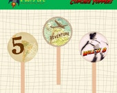 ADVENTURE Cupcake Toppers Printable  PDF Adventure Party