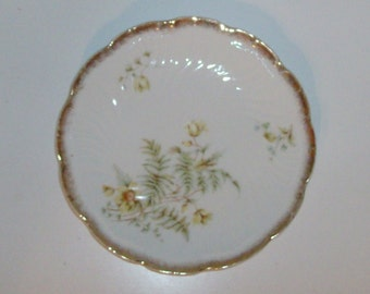 Olive Yellow Floral Plate
