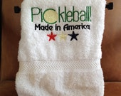 PICKLEBALL Sport Towel - Embroidered and Personalized