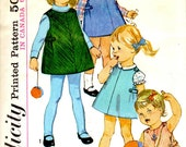 Simplicity 6158 Vintage Sewing Pattern Toddler Size 1 Dress Jumper Blouse